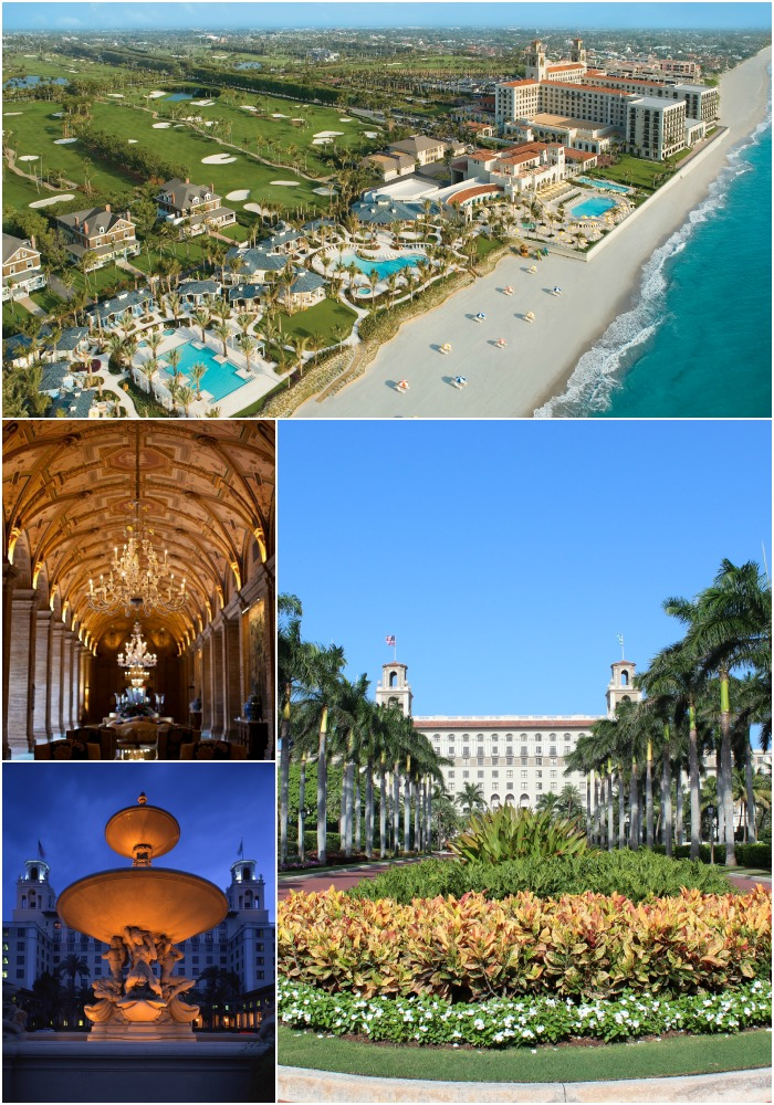 Main Lobby: LILA Photo; Fountain and Aerial View: The Breakers Palm Beach