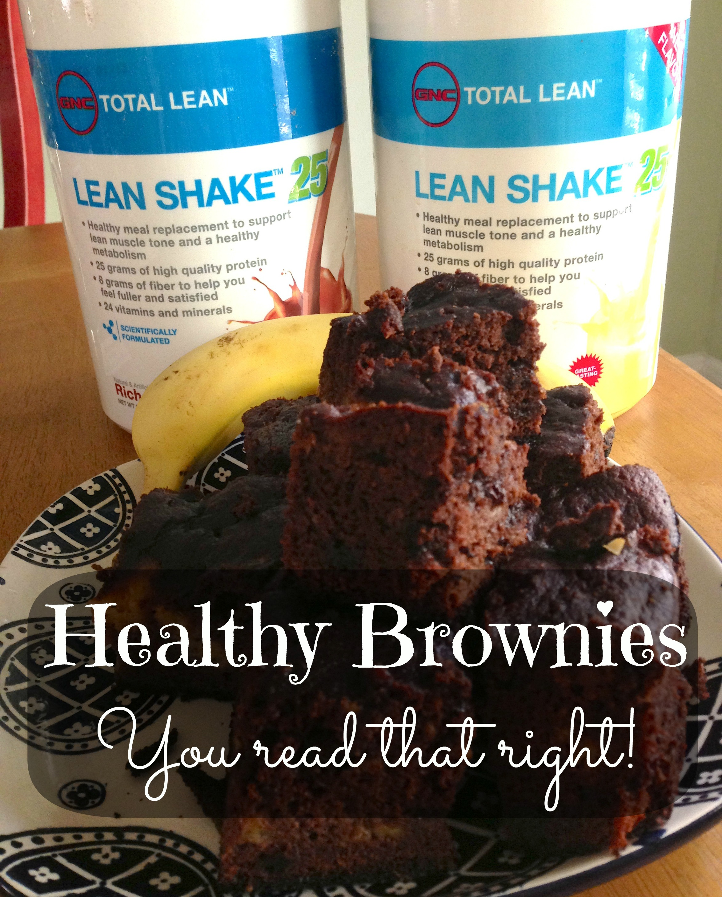 Double-Down Monkey Protein Brownies